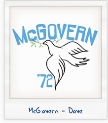George McGovern Dove of Peace 1972 Presidential Campaign T-Shirt