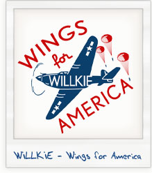 Wendell Willkie 'Wings for America' Presidential Campaign T-Shirt