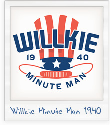 Wendell Willkie 'Minute Man' Presidential Campaign T-Shirt
